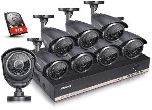 CCTV IP Camera in schwarz als Komplettkamerasystem