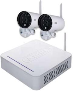 Funk Videoüberwachungs Set mit Rekorder und zwei Außenkameras