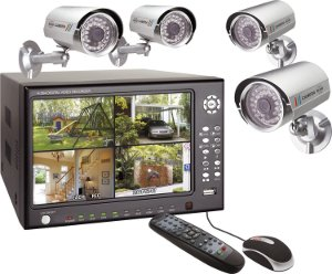 berwachungskamera mit aufzeichnung und bewegungsmelder im set. Black Bedroom Furniture Sets. Home Design Ideas